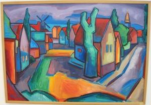 Stilheden. Maleri af Alexsandar Hajder.103 x 73 cm