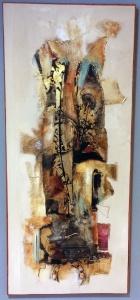 Charlotte Farup Ohrt. Uden titel. Akryl på lærred, 50x150 cm