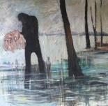 Anna Lindgren: Something in your hand. 110 x 115 cm